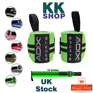 12 Inch Power Lifting Wrist Wraps Sold as Pair & One Size Fits All
