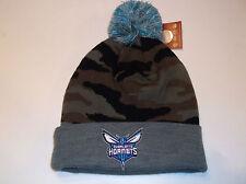 Charlotte Hornets NBA Team Apparel Mitchell & Ness Cuffed Camo knit beanie
