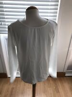 RIVER ISLAND CREAM BLOUSE ZIPPED DESIGN FRONT SIZE 10