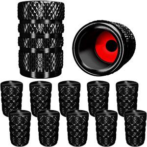 Samikiva (12 Pack) Aluminum Tire Valve Stem Caps, Metal With Rubber Ring, Dust P