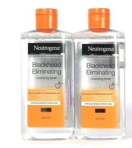 2 Bottles Neutrogena 6.8 Oz Blackhead Eliminating Oil Free Cleansing Toner