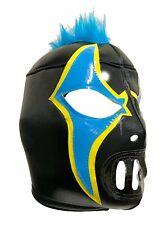CRAZY CLOWN Lucha Libre Wrestling Mask (pro-fit) Black/Blue