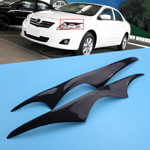 Fit for Toyota Corolla 03-08 Front Headlight Lamp Cover Trim Eyelid Garnish