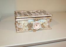 Shabby Chic / French Country Gorgeous Decorative Birch Bark Box