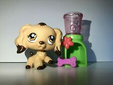 Littlest Pet Shop LPS #575 Cocker Spaniel Dog Tan Brown Dipped Ears Authentic