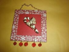 CANDY CANE CHRISTMAS HOLIDAY PIN FRAME SEE PICTURES BACK CONVERTS TO FRAME