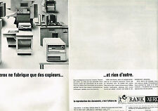 PUBLICITE ADVERTISING 0314   1965   RANK XEROX   photocopieurs  ( 2 pages)