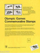 1972 USPS Issued OLYMPIC GAMES Stamp Flyer / Brochure...........ORIGINAL!