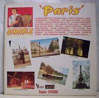 """2 x 33 tours AIMABLE Disques LP 12"""" PARIS Musette VOGUE 630 Frais Reduit"""
