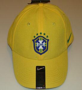 2014 Team Brasil Brazil Cap Hat Soccer European Football World Cup Yellow