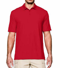 New Under Armour UA Tactical Range Short Sleeve Polo Shirt Red Men's SM 1005492