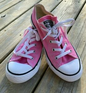 Kids Pink Converse All Star Chuck Taylor Canvas Shoes Sneakers Youth Size 3