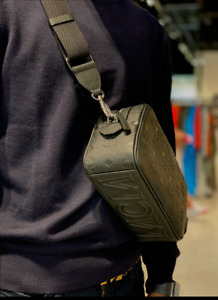 MCM Tivitat Crossbody Wash Bag Black Monogram Leather MXZASBT02BK001