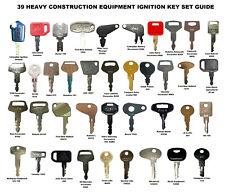 39 Heavy Equipment Construction Ignition Key Set For Cat Case Deere Komatsu Jcb
