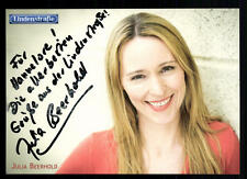 Julia Beerhold albegue autografiada mapa original firmado # bc 17171
