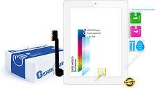 Touchscreen vetro Digitizer per Apple iPad 3 con originali UAV Cavo Flex-Bianco