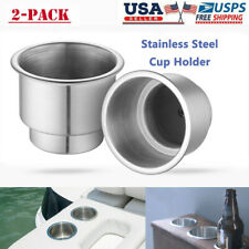 2Pcs Stainless Steel Cup Drink Holder Marine Boat Car Truck Camper Rv Universal