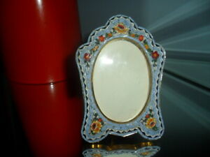 Vintage 50's micro mosaic Italian brass picture frame