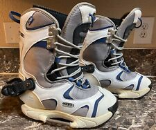 Vans Women's 8.5 US Type N Snowboard Boots Snowboarding Shoes White & Blue Used