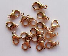 5pz moschettoni  in acciaio inox  10x6mm colore oro bijoux