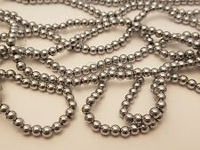 Non-Magnetic Hematite Beads, Color Plated, Silver Grade A, Round, 4mm, Hole: 1mm