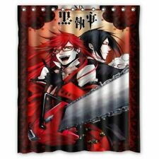 Gift NEW!!! Black Butler Grell Shower Curtain Custom 60X72 Inches