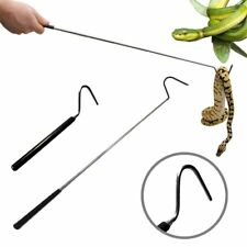 "39.3"" Stainless Steel Collapsible Snake Hook Pocket Catch Moving Reptile Grabber"