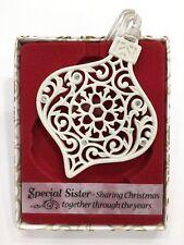 Swarovski®Crystal Keepsake Tree Decoration Merry Christmas Special Sister Gift