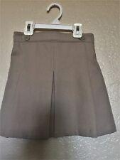 George Girls' School Uniform Performance Skirt Skort Khaki Size 7