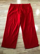 New Women's Wondershop Christmas Red Fleece Pants Lounge Pajama Size XXL 2XL