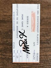 MAGIC JOHNSON NBA PLAYOFFS DEBUTE TICKET SIGNED /Autographed Los Angeles Lakers