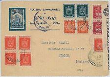 SAN MARINO - STORIA POSTALE: BUSTA per la SVIZZERA - censura !! 1945 -  BELLA!
