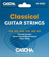 CASCHA Premium Classical Guitar Strings, Acoustic Guitar, Nylon, Silvered Copper