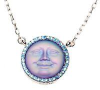 Kirks Folly Seaview Moon 18mm Dream Stone Necklace silvertone