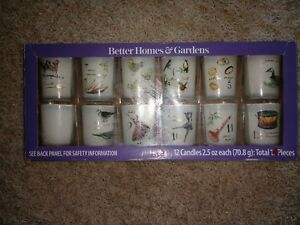 Better Homes & Gardens 12 Day of Christmas Filled Candles