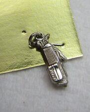 Vintage Sterling Silver 3D Golf Club Ball Bag Bracelet Charm