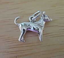 Sterling Silver Small 13x16mm 3D Chihuahua Rat Terrier Dog Charm