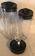 Nutri Ninja 1 Extractor Blade+ 2 Cups & 2 Lids