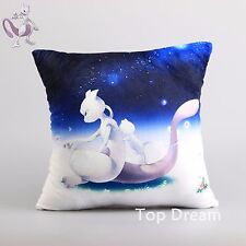 Pokemon Mewtwo Plush Pillow Soft Stuffed Doll Toy Throw Cushion 13'' Xmas Gift