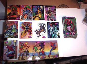 1997 FLEER MARVEL VS WILDSTORM COMPLETE BASE 90 CARD SET! GEN13 SPIDERMAN X-MEN!