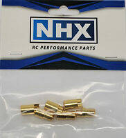 NHX 6.5mm Gold Plated Bullet Adapter Connector Male / Female 3 Pairs/Bag
