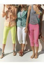 New HUE Capri Denim Leggings Jeans Pants White X Small XS 26 X 20