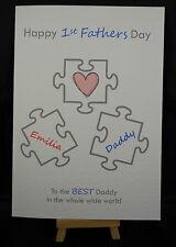 Personalised HandMade First Fathers Day Card - Dad,Daddy,Granda,Grandad,Grandpa