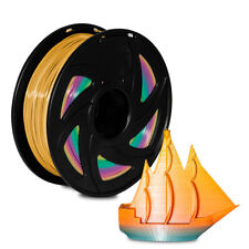 3D Printer PLA 1.75mm Rainbow Changing Filament 1kg Multicolor Colorful MakerBot