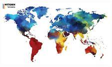 Weltkarte Aufkleber Wandsticker Karte Erde World map Welt Amerika Afrika Europa