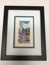"""Charles Fazzino 3D Artwork """" Flying over New York """" Signed & Numbered Rare 1997"""