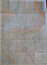 Folded Color Map Southeastern South Dakota Carthage Mitchell Huron Vernon 1903