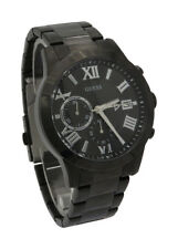 GUESS U0668G5 Mens Chronograph Atlas Black Stainless Steel Bracelet Date Watch