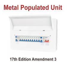 16 Way Dual Board 63A RCD Metal Consumer Unit &16 MCB's 17th Edition Amendment 3