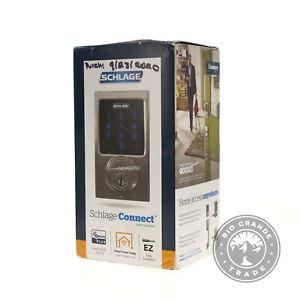 OPEN BOX SCHLAGE BE469ZPVCEN619 Connect Touchscreen Deadbolt in Satin Nickel
